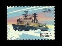 Russia-1977-Antarctic-research-icebreaker-ship-stamp