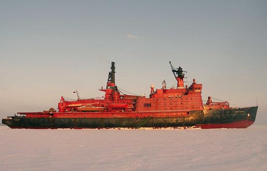 Russia Nuclear Icebreaker Arktika