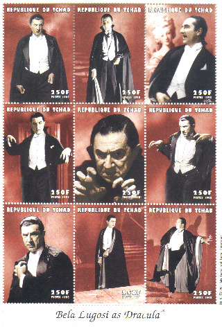 Bela Lugosi on sdtamps Chad
