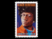 Black heritage stamp USA Shirley Chisholm