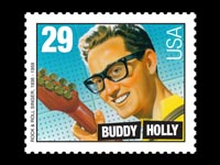 Buddy Holly stamp The day the music died
