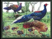 Swinhoes Pheasant stamps Taiwan 2014
