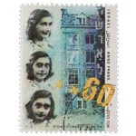 Anne Frank on postage stamps