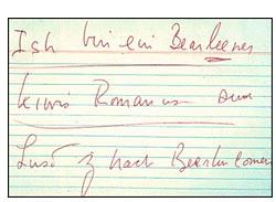 John F.Kennedy note 'Ich bin ein Berliner'