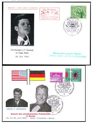 First Day Enveloppe Kennedy in Berlin