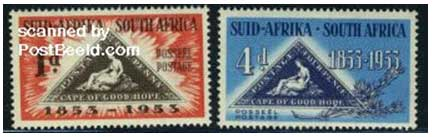 centenary stamp for the first stamp of Cape of good Hope