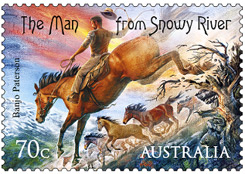 The-Man-from-Snowy-River-Stamp
