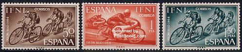 Tour The France stamps Ifni