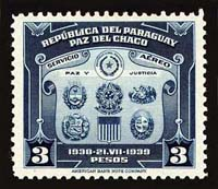 Stamp issued to celebrate the Chaco Peace treaty