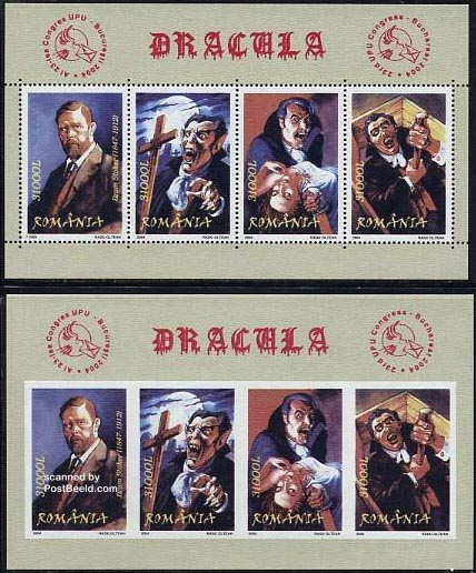 Dracula stamp blocks Romania