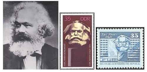 Karl Marx on postage stamps