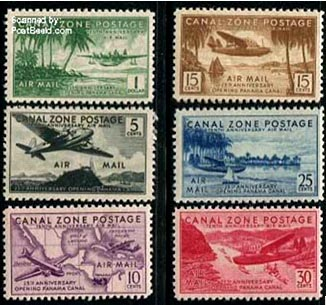 1931 Canal Zone issue, 25th Anniversary Panama Canal