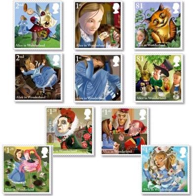 Alice in Wonderland stamps Royal Mail 2015
