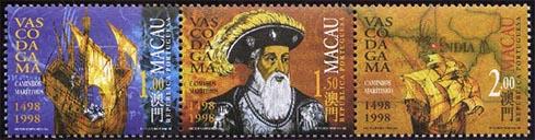 Vasco da Gama postztegel met gecorrigeerd jaar