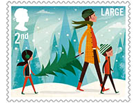 christmas stamp Great Britain 2014