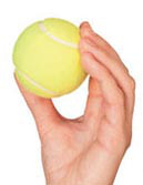 Hand with Tennisball