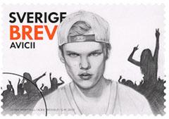 disc jockey Avicii stamp