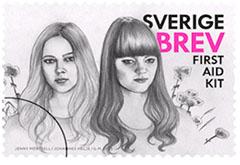 Klara and Johanna Soderberg on stamps