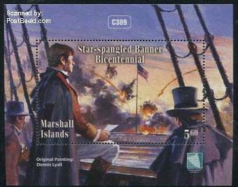 Marshall Islands stamp block