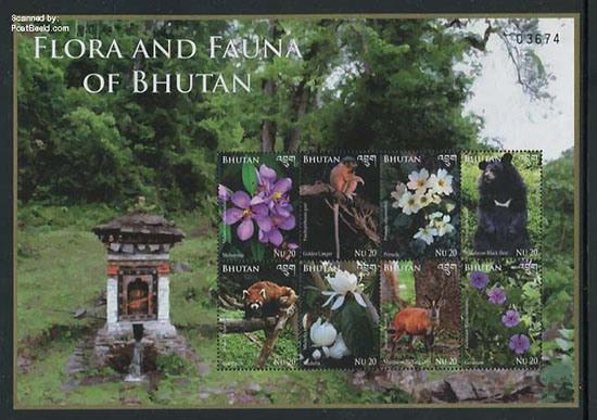 Postzegels-Flora-en-fauna-van-Bhutan-jp31406b