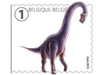 dinosaur stamp belgium 2015