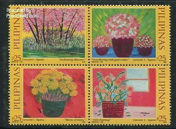 Ugly flower stamps