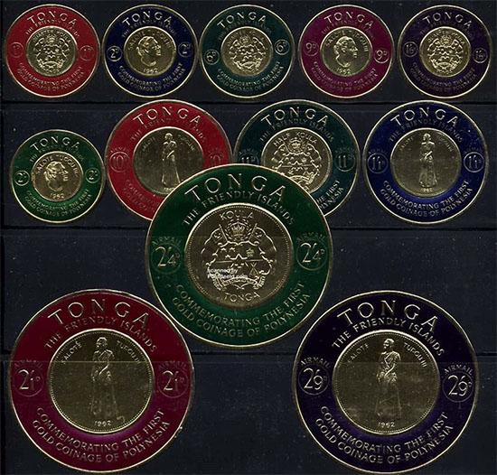 Tonga self adhesive stamps