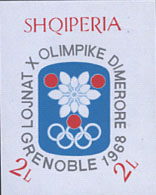 Stamp block issued by Albania 1968