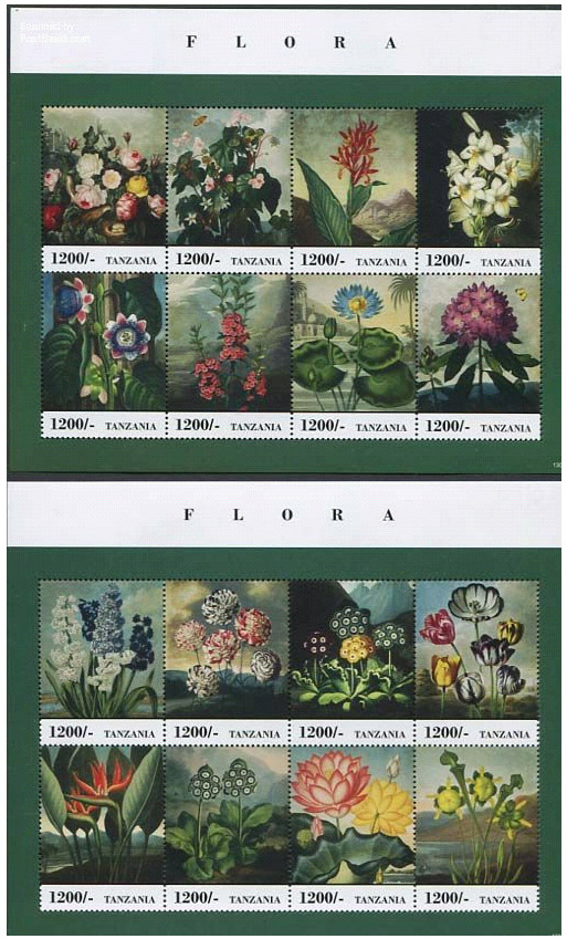 flower-stamps-tanzania