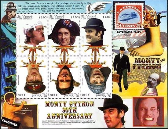 Monty Python stamp block