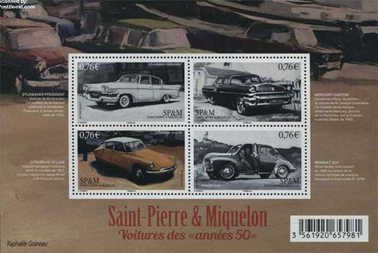 Cars-on-stamps
