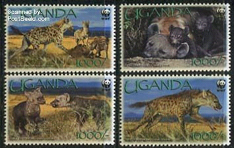 Hyena stamps Uganda