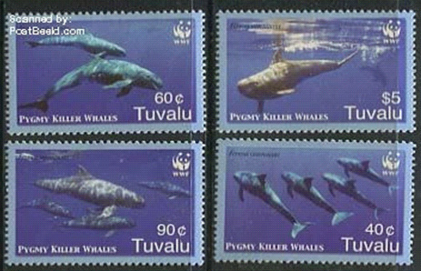 Whales on stamps