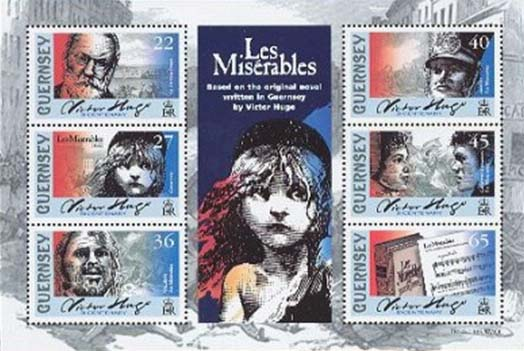 Les miserables stamp block