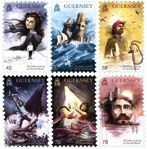 The Toilers of the Sea stamps