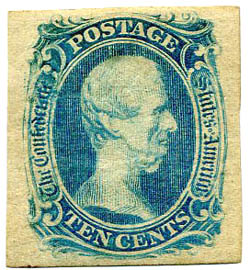 There are several known counterfeits by Sperati of this Jefferson Davis stamp