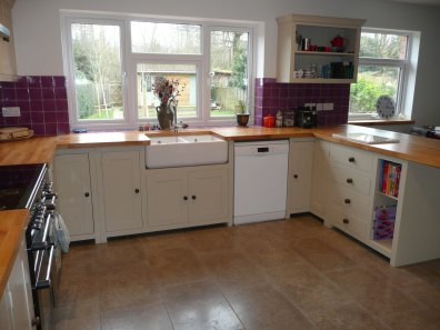 Shaker Style - White kitchen cupboards