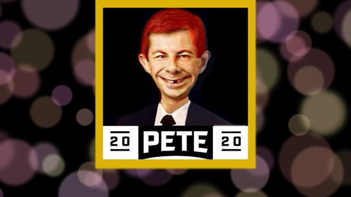Pete Buttigieg  and Alfred E. Neuman