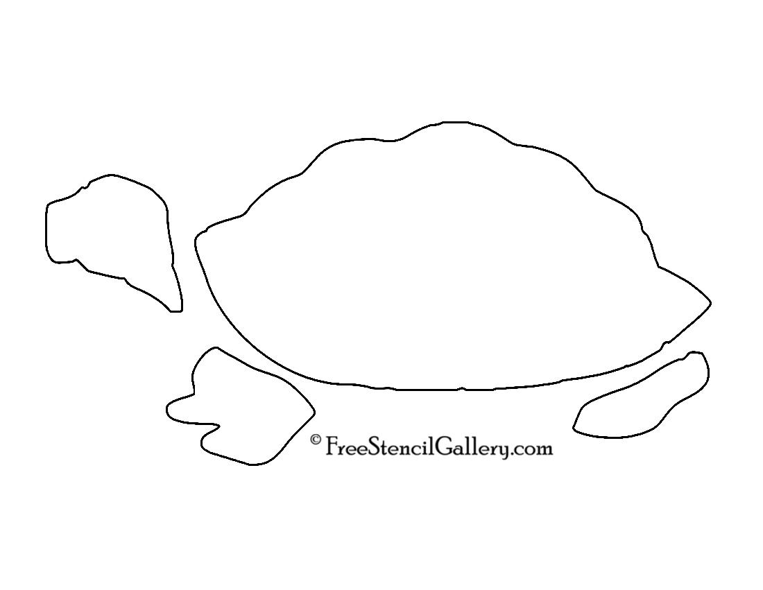 Turtle Stencil 02
