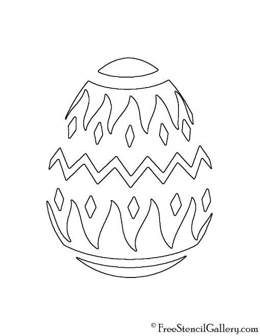 Easter Egg 04 Stencil Free Stencil Gallery