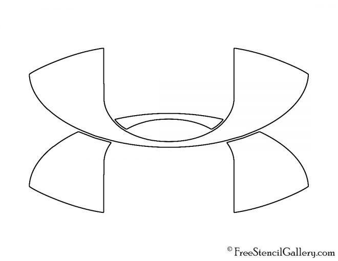 Coloring Pictures Of The Under Armour Symbol