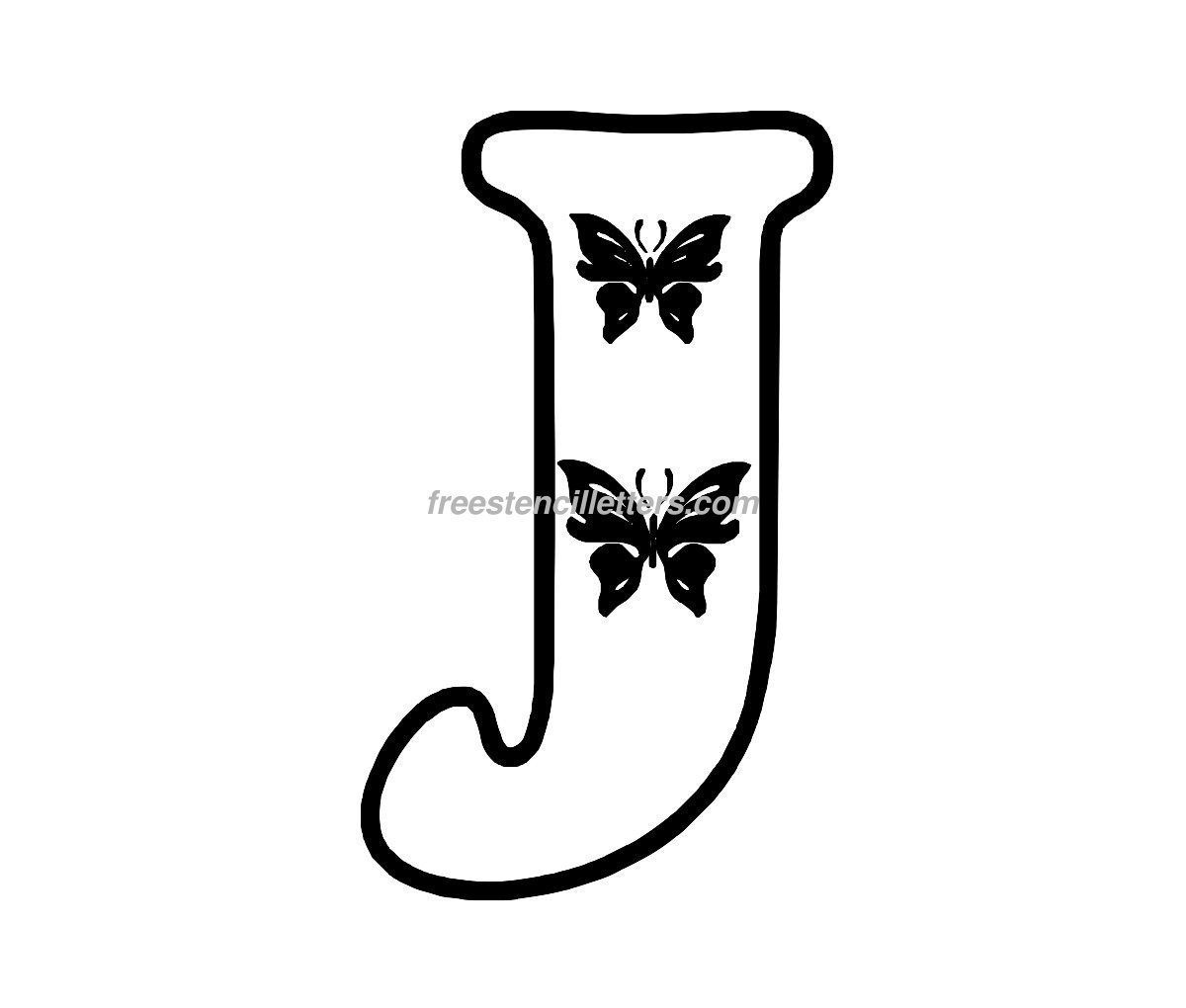 Butterfly Stencil Letters Archives