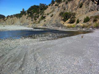 Eel river in summer