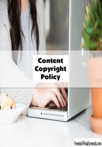 content copyright policy