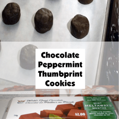 Chocolate Peppermint Thumbprint Cookies