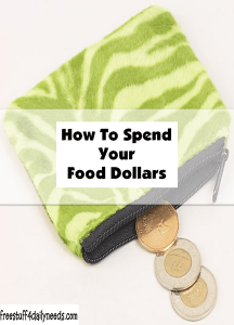how to spend your food dollars