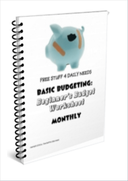 basic budgeting beginners worksheet