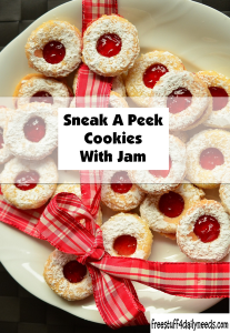 sneak a peek cookies with jam