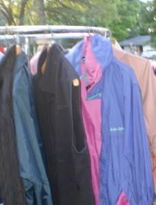 coats on rack