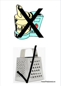 food processor vs grater